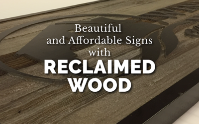 Wood Lobby Sign for Dulles Contractor